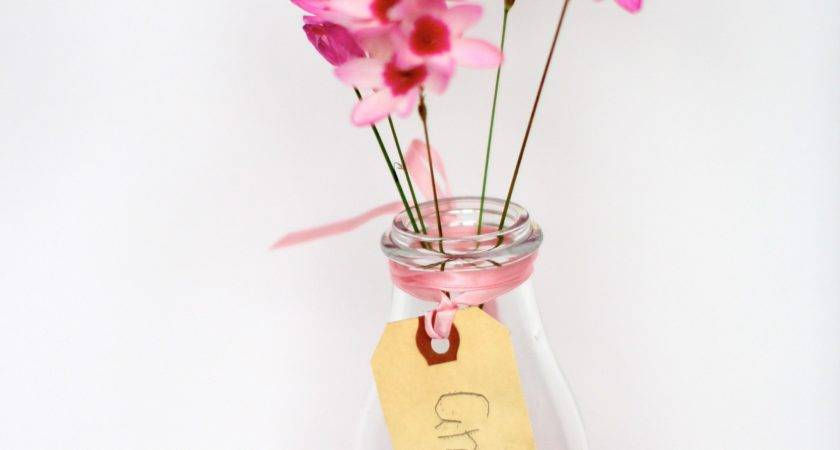 Think Pink Painted Bottle Vases
