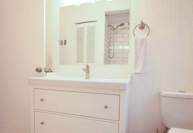 Thrifty Bathroom Makeover Ikea Hemnes Vanity