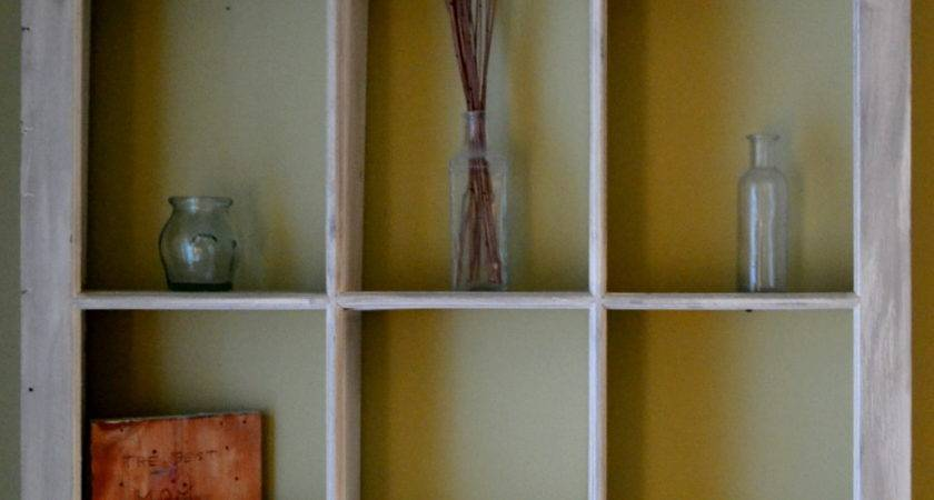 Thrifty Decorating Using Old Windows Storage Solutions
