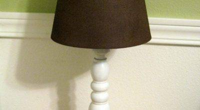 Thrifty House Spray Painted Lamp Shades