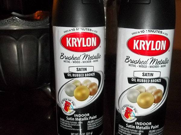 Thrifty Little Things Krylon Oil Rubbed Bronze Test