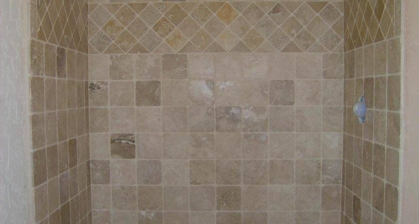 Tile Showers Grasscloth