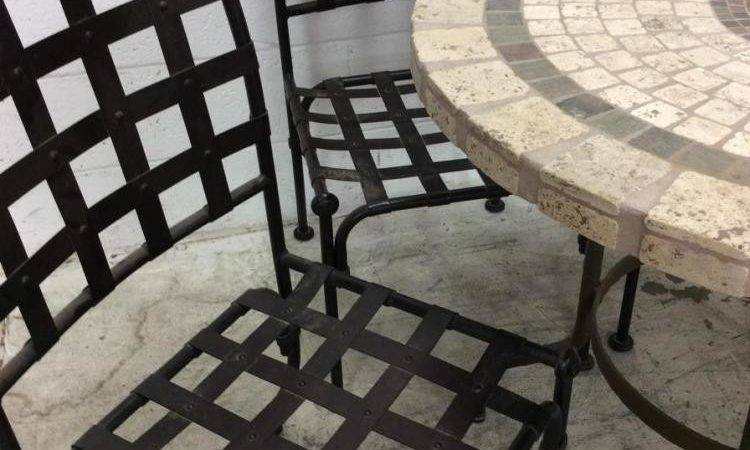 Tile Top Patio Table Chairs