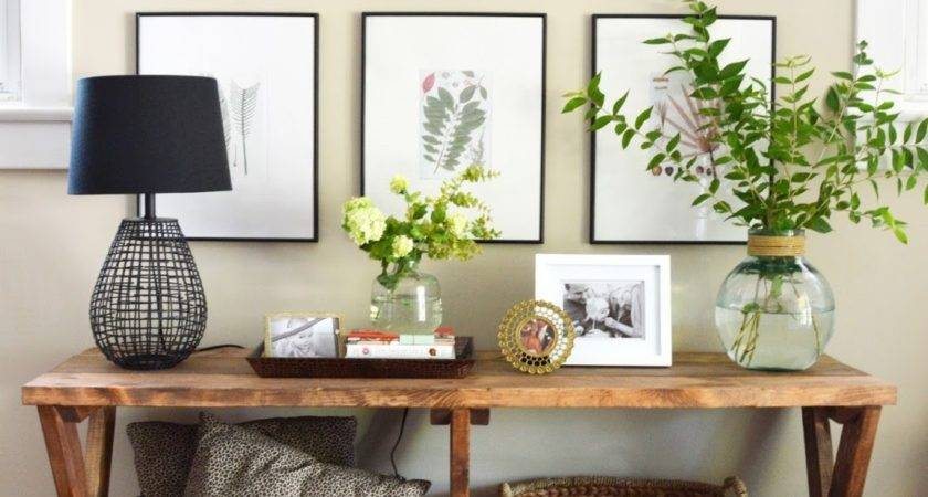Tips Styling Your Entryway Table