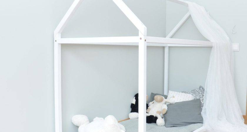 Toddler Bed House Pine Wood Wooden Montessori