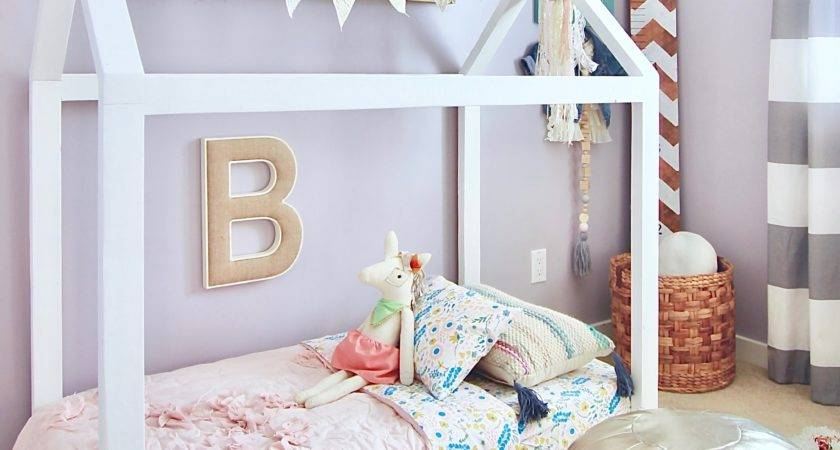 Toddler House Bed Diy White Picket Farmhouse