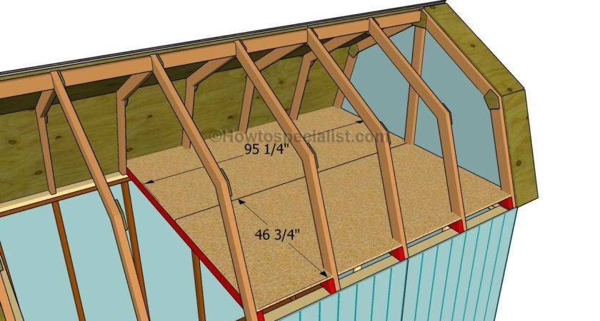 Tool Shed Construction Plans Gambrel Roof Loft