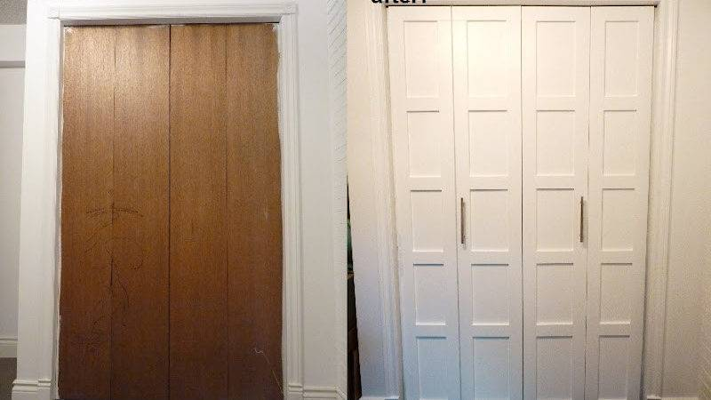 Top Diy Tutorials Fold Closet Door Makeover