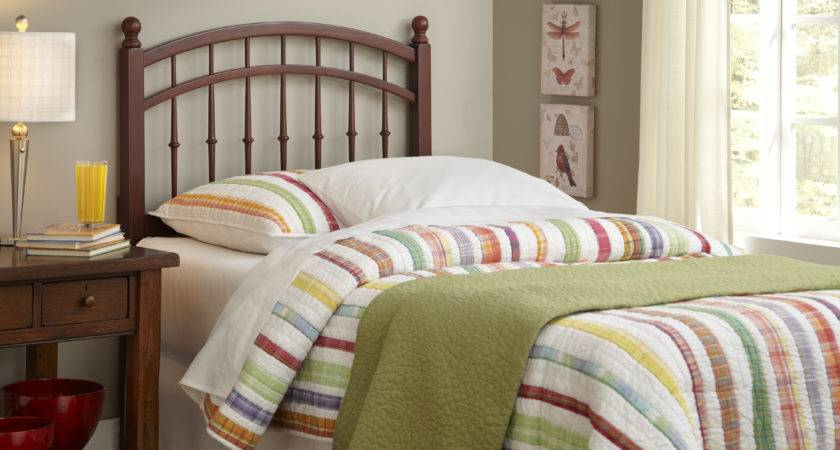 Traditional Twin Bed Headboards Wood Frame Material Slat