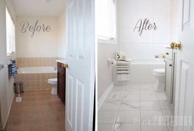 Transform Ugly Bathroom Diy Tile Painting