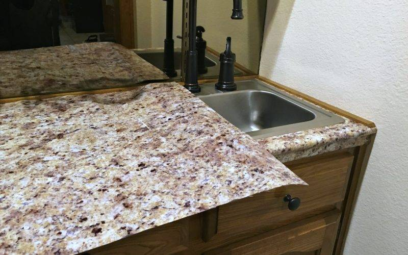 Transform Your Countertops Diy Fake Granite Counter