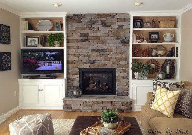 Transforming Fireplace Built Bookcases Driven