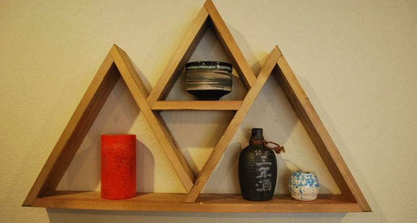 Triangle Floating Wall Shelf Style