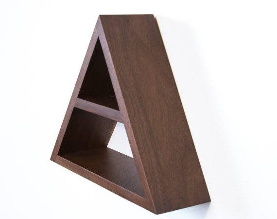 Triangle Shelf Geometric Wood Wall Decor Haasehandcraft