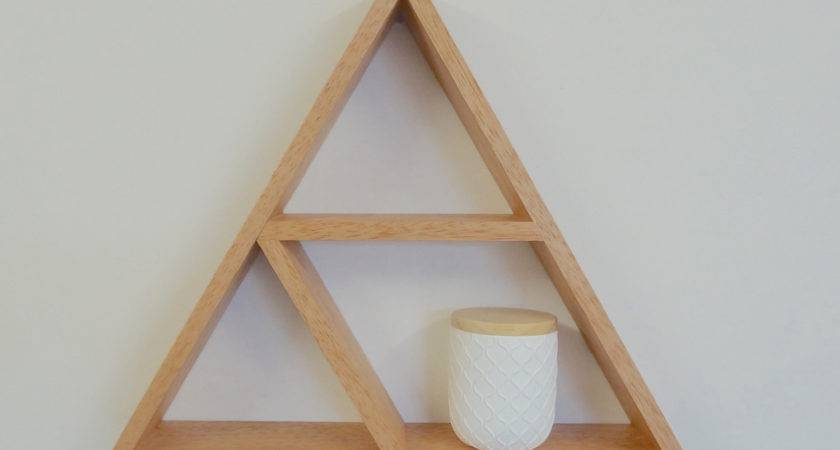 Triangle Wooden Shelf Geometric