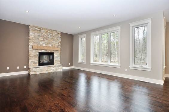 Trim Off White Accent Wall Fireplace Kingsport