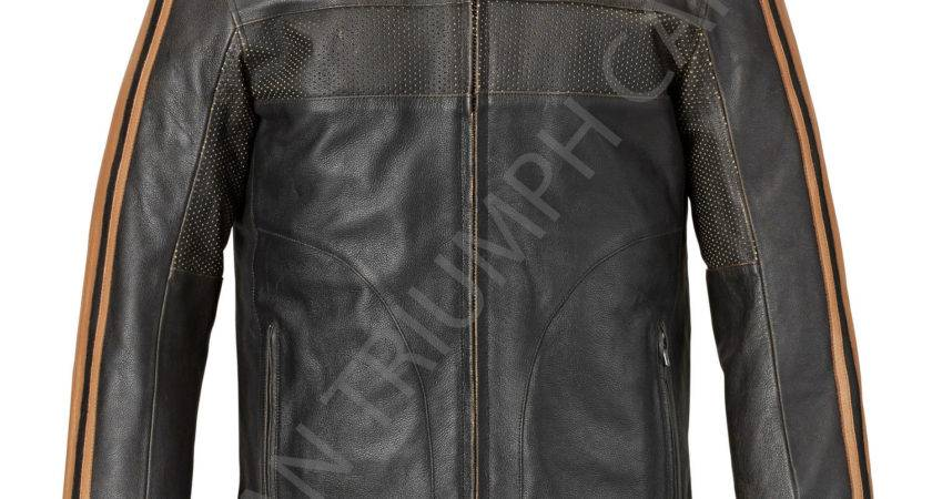 Triumph Restore Retro Leather Motorcycle Jacket Mlhs