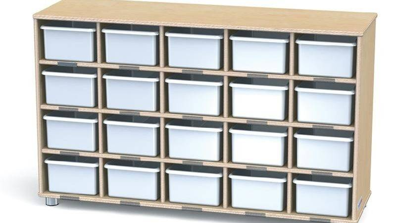 Truemodern Twenty Cubbie Shelf Without Trays
