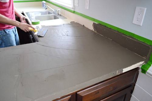 Trying Our Hand Diy Ardex Concrete Counters Young