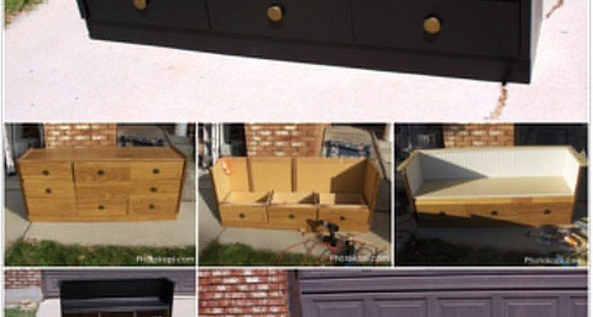 Turn Old Dresser Into Awesome Bench Step