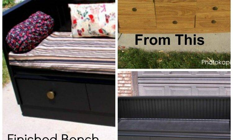 Turn Old Dresser Into Bench Honeys Place