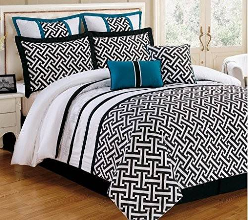 Turquoise Black Bedding Comforter Sets