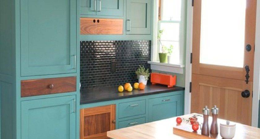 Turquoise Kitchen Cabinets Any Styles Homesfeed