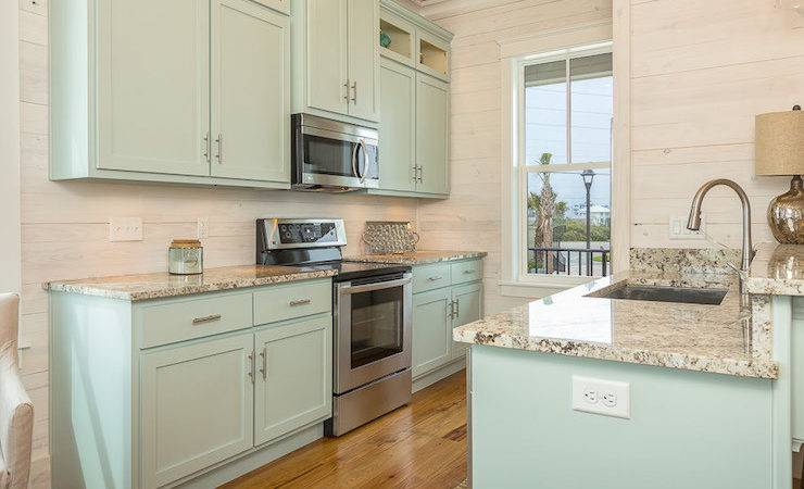 Turquoise Kitchen Cabinets Cottage Pat