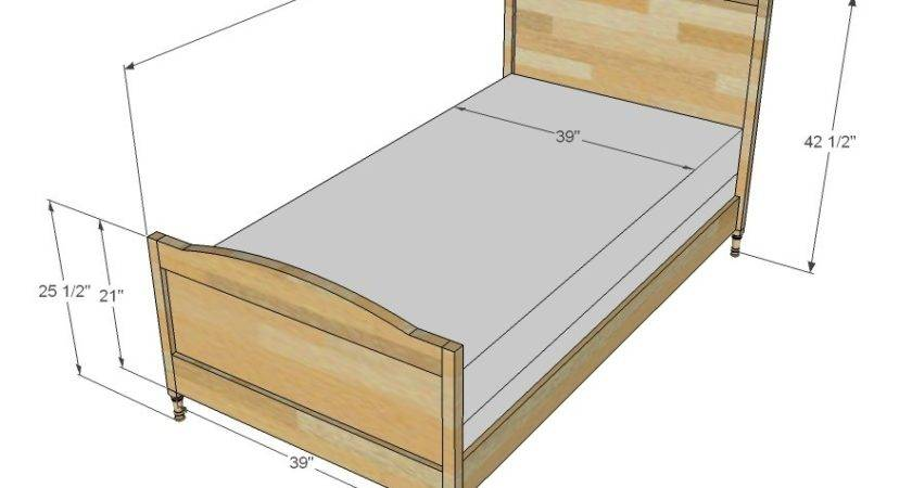 Twin Bed Dimensions In Feet Inspiration   Gabe & Jenny Homes