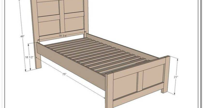 Twin Bed Frame Feet Zozzy Home