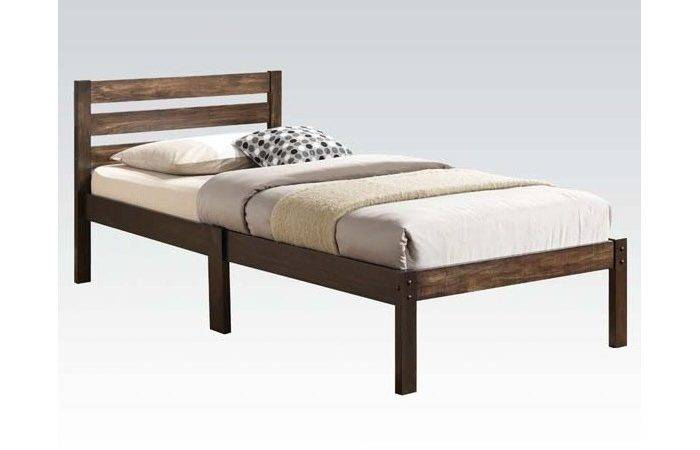Twin Bed Headboard Footboard Rails Ash Brown
