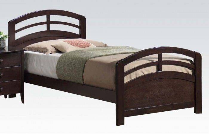 Twin Bed Headboard Footboard Rails Dark