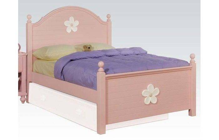 Twin Bed Headboard Footboard Rails Pink