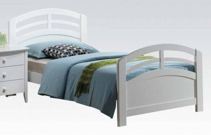 Twin Bed Headboard Footboard Rails White