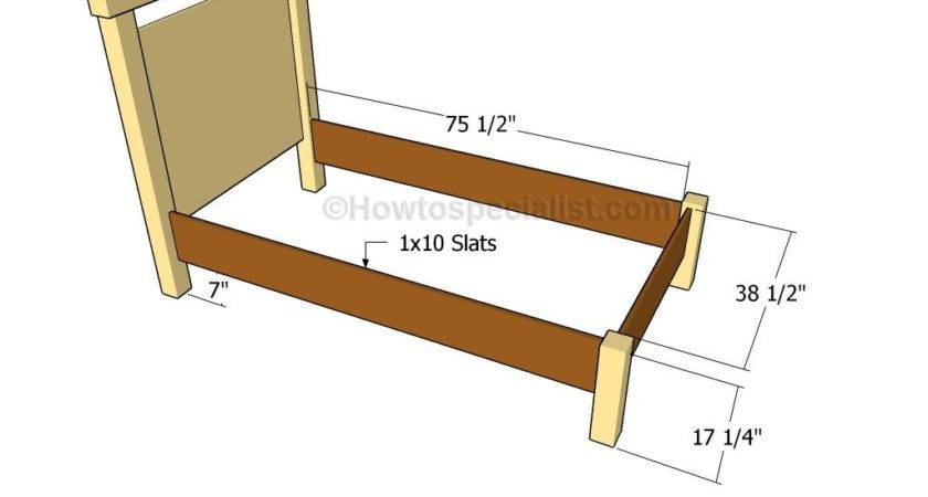 Twin Bed Plans Howtospecialist Build Step