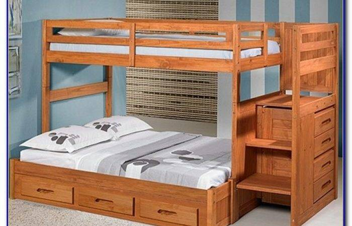 Twin Over Bunk Bed Stairs Slide
