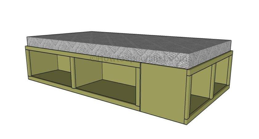 Twin Storage Bed Plans Pdf Woodworking