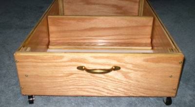 Under Bed Storage Inch Rolling Drawer Clear Lacquer