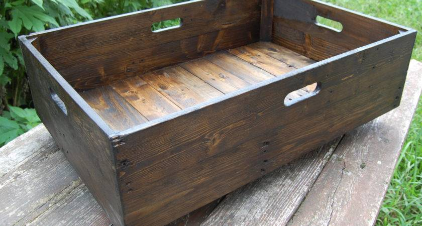 Under Bed Storage Rolling Crate Reclaimed Wood