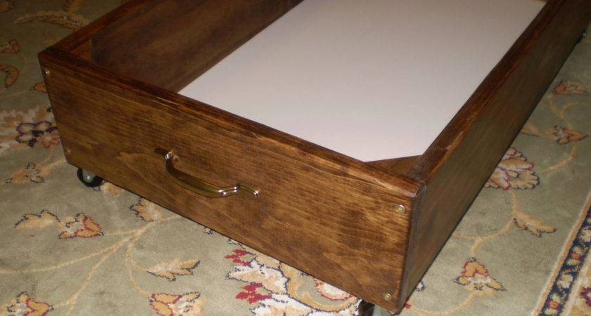 Under Bed Storage Rolling Drawer Box Odyssey