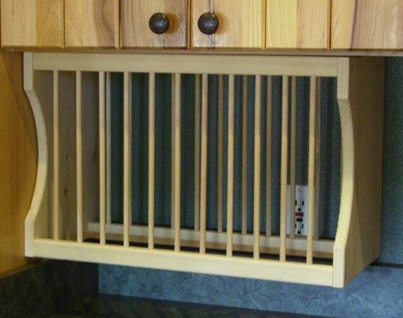Under Cabinet Plate Rack Nicoletwoodproducts Etsy