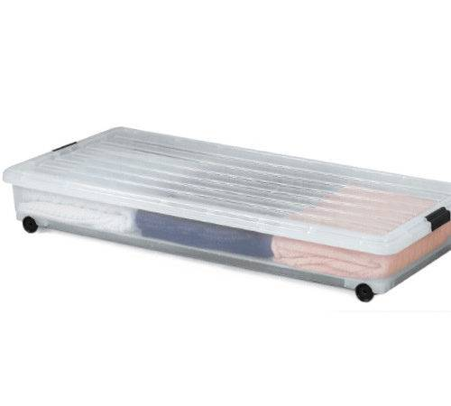 Underbed Plastic Rolling Box Storage Boxes