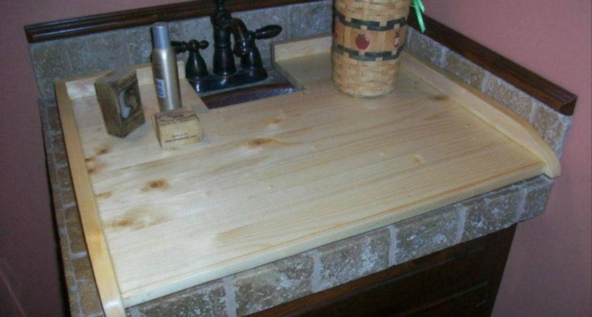 Unfinished Wood Raw Bathroom Sink Cover Larger