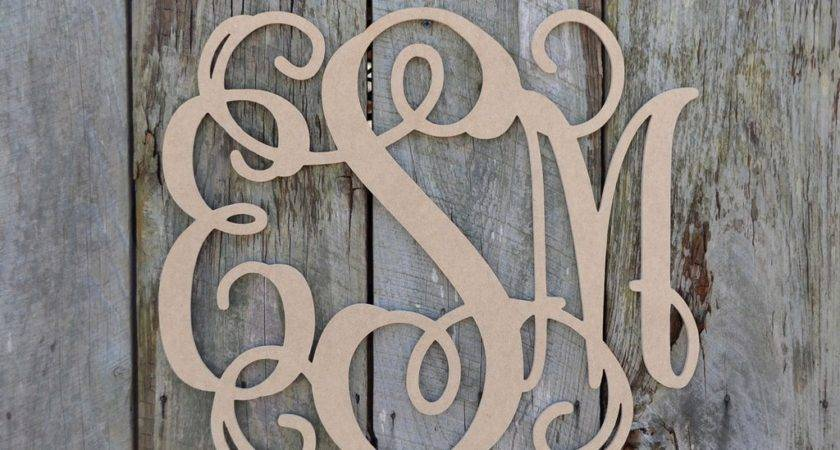 Unfinished Wooden Letter Vine Personalized Custom