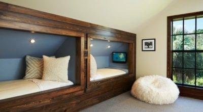 United States Bed Built Into Wall Kids Rustic Fur