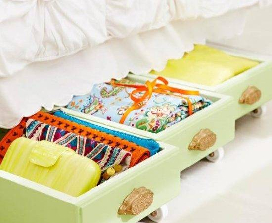 Upcycle Old Drawers Into Under Bed Rolling Storage