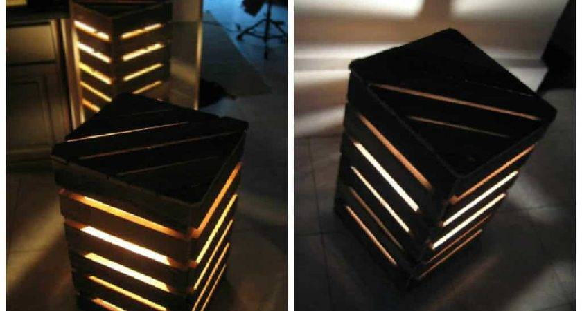 Upcycled Pallet Cube Light Pallets
