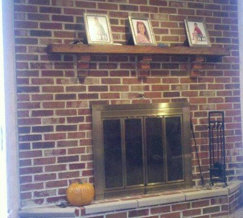 Updating Brick Fireplace