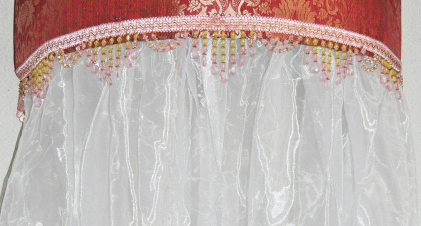 Upholstered Curved Cornice Bed Canopy Ready Ship