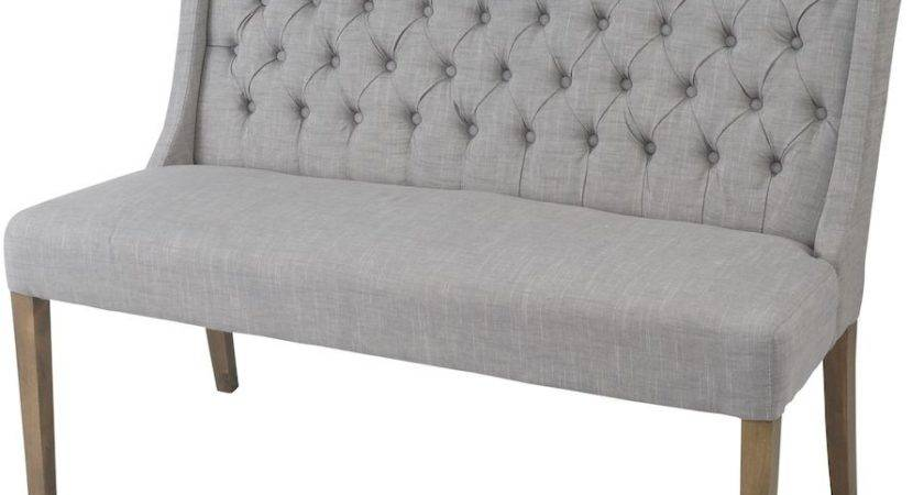 Upholstered High Back Dining Benches
